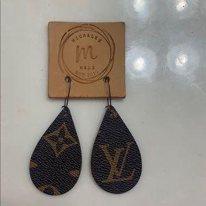 Jewelry - Refurbished louis vuitton dangle earings.